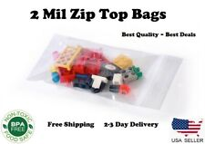 Clear 2 Mil Zip Seal Bags Poly Plastic Reclosable Top Lock Zipper 2mil Baggies