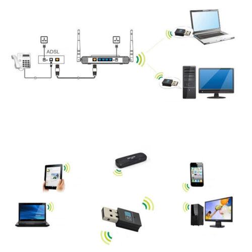 300Mbps Wireless USB Wi-fi Wlan Adapter 802.11 b//g//n Network LAN Dongle KA