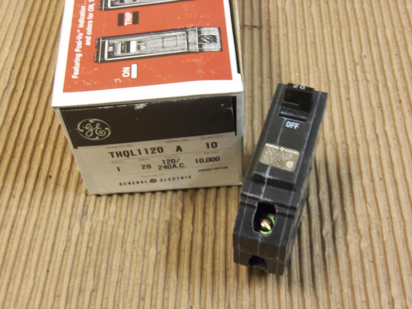 Ge Thql Thql1120 1 Pole 20 Amp Circuit Breaker Ebay Shop Qline 20amp 1pole Ground Fault At