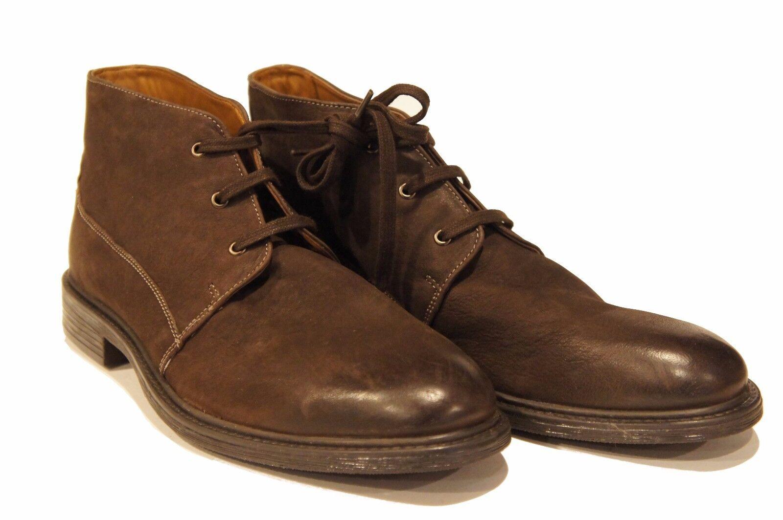 Bostonian Men's Wakeman Top Dark Brown Oxford Leather Dress Ankle Boots 11 M