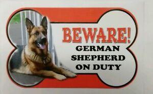 Berger Allemand Beware Of The Dog Signe 12 Cm X 21 Cm Autres Pains Disponible-afficher Le Titre D'origine ModéLisation Durable