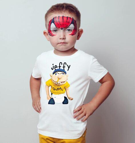 Jeffy Puppet Kids T-shirt Youtuber Boy Girl Children Top T-shirt Cartoon