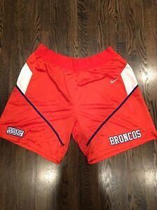 Game Worn Used Boise State Broncos Basketball Shorts Nike 3XL