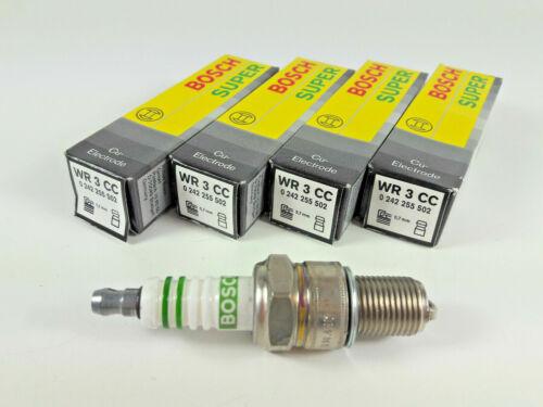 1x BOSCH Spark Plug WR3CC 0242255502 SUPER 0,7mm GAP