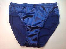 Women Panties,Briefs Bikinis Selina Size XXL Blue Satin Silky W/Net&Decoration