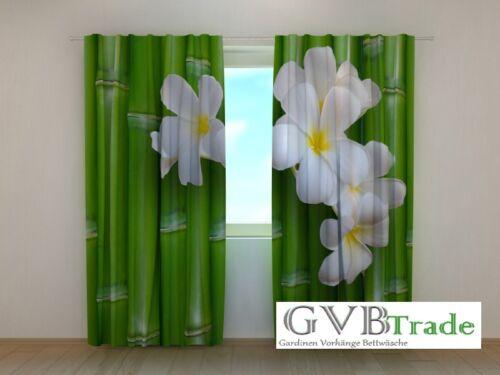 nach Maß Fotogardinen Bambus Fotovorhang Vorhang Gardinen 3D Qualität Fotodruck