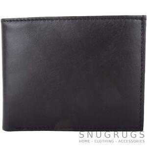 Mens-Gents-Soft-Leather-Bi-Fold-RFID-Money-Coin-Holder-Wallet