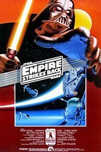 star wars EMPIRE STRIKES BACK movie poster DARTH VADER PRINCESS LEIA HD PRINT #1
