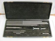 Starrett Inside Tubular Set No Micrometer 9 Pieces 2 32 Rods Incomplete Set