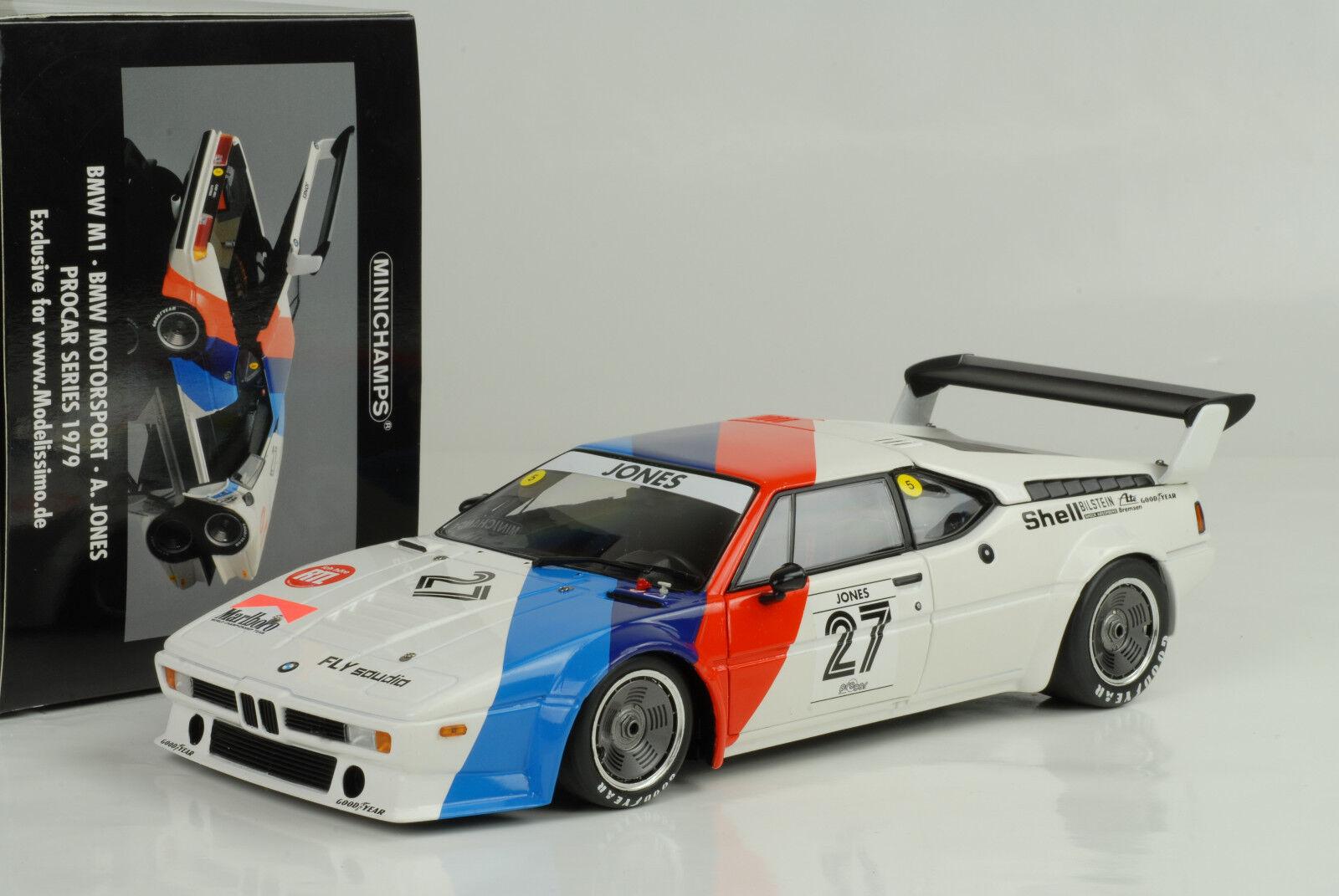 BMW M1 Motorsport Motorsport Motorsport A.Jones Procar Series 1979 + Sponsor Decals  1 18 Minichamps cade02