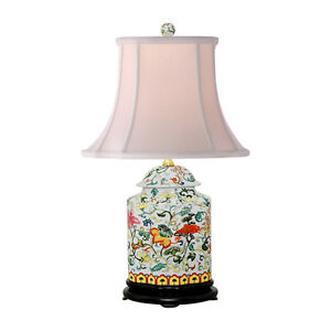 Oriental chinese porcelain floral scallop ginger jar table lamp 22 image is loading oriental chinese porcelain floral scallop ginger jar table aloadofball Images
