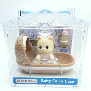 Sylvanian-Families-Baby-Carry-case-Chantilly-Cat-figure-toy-doll-Flair