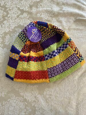 SOLMATE SOCKS BEANIE HAT THINKING CAP VERMONT USA PATCHWORK ADULT ONE SIZE