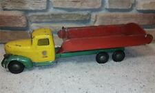 """28"""" Turner Double Axle Dump Truck Complete 1930s Smiling Boy Decal Steelcraft"""