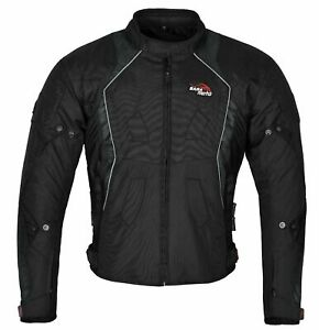 Uomo-Giacca-Moto-Da-Corsa-Impermeabile-Tessuto-Cordura-CE-Rimovibile-Protezioni