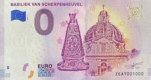 BILLET-0-EURO-BASILIEK-VAN-SCHERPENHEUVEL-BELGIQUE-2018-NUMERO-1000