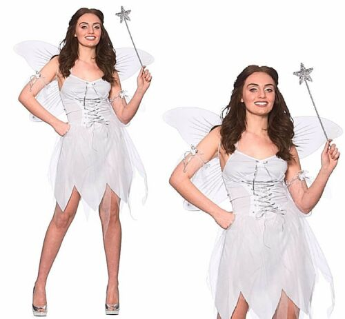 Adult GOOD FAIRY Ladies Christmas Godmother Nativity Fancy Dress UK Sizes 6-20