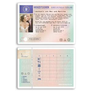 führerschein karte Einladungen zur Hochzeit als Führerschein Karte Lizenz Auto