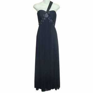 XSCAPE-Navy-Blue-Beaded-Chiffon-One-Shoulder-Long-Dress-4-Evening-Gown-Formal