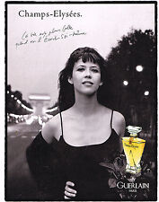 PUBLICITE ADVERTISING 025  1997  GUERLAIN   SOPHIE MARCEAU  CHAMPS-ELYSEES