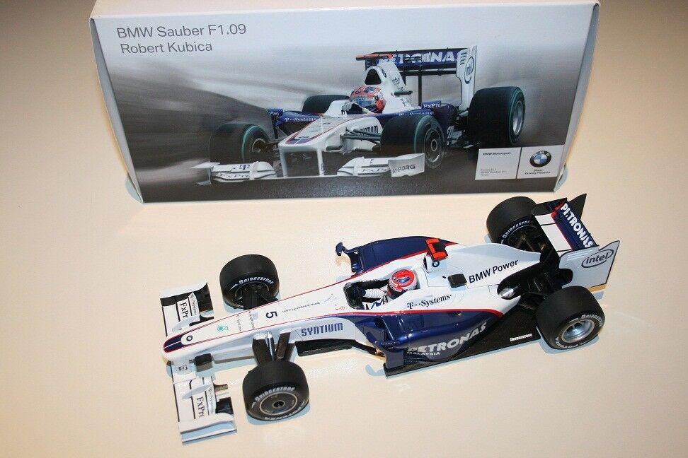 1/18 BMW SAUBER F1.09 R. KUBICA 2018 DEALER BOX MINICHAMPS