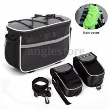 4 in1 Bicycle Bike Cycling Front Frame Tube Handlebar Pannier Pouch Phone Bag