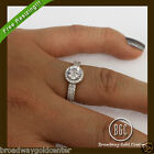 2.08 CTW Round Brilliant Cut Halo Engagement Ring 14k Solid Yellow Gold