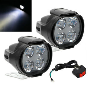 2x Mini Lamp 8W Pit Bike ATV Head Light LED Fog Spotlight 800LM 9-85V w/ Switch