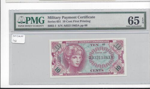 MPC Series 651  10 cents PMG 65EPQ  GEM UNC
