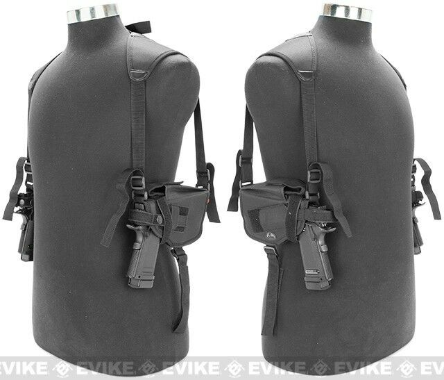 BLACK Concealed Double Shoulder Holster Gun Rig Fits most Auto's and Revolvers