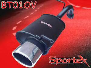 Details about Sportex Toyota Yaris performance exhaust back box 1 0i  1999-09/2005 oval