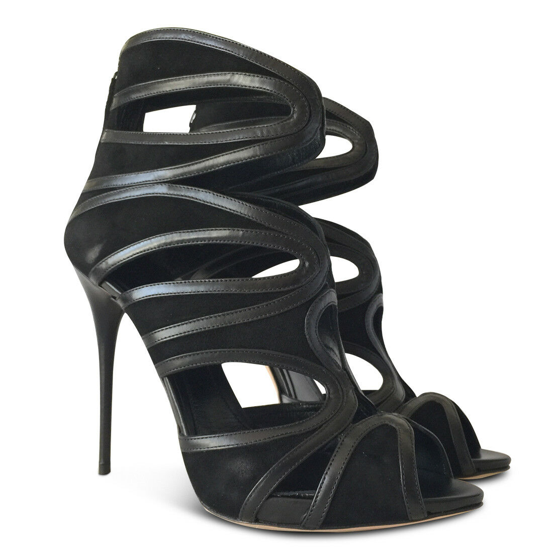 negozio d'offerta NEW ALEXANDER ALEXANDER ALEXANDER MCQUEEN Suede Cutout Sandals - nero - Dimensione 40  promozioni