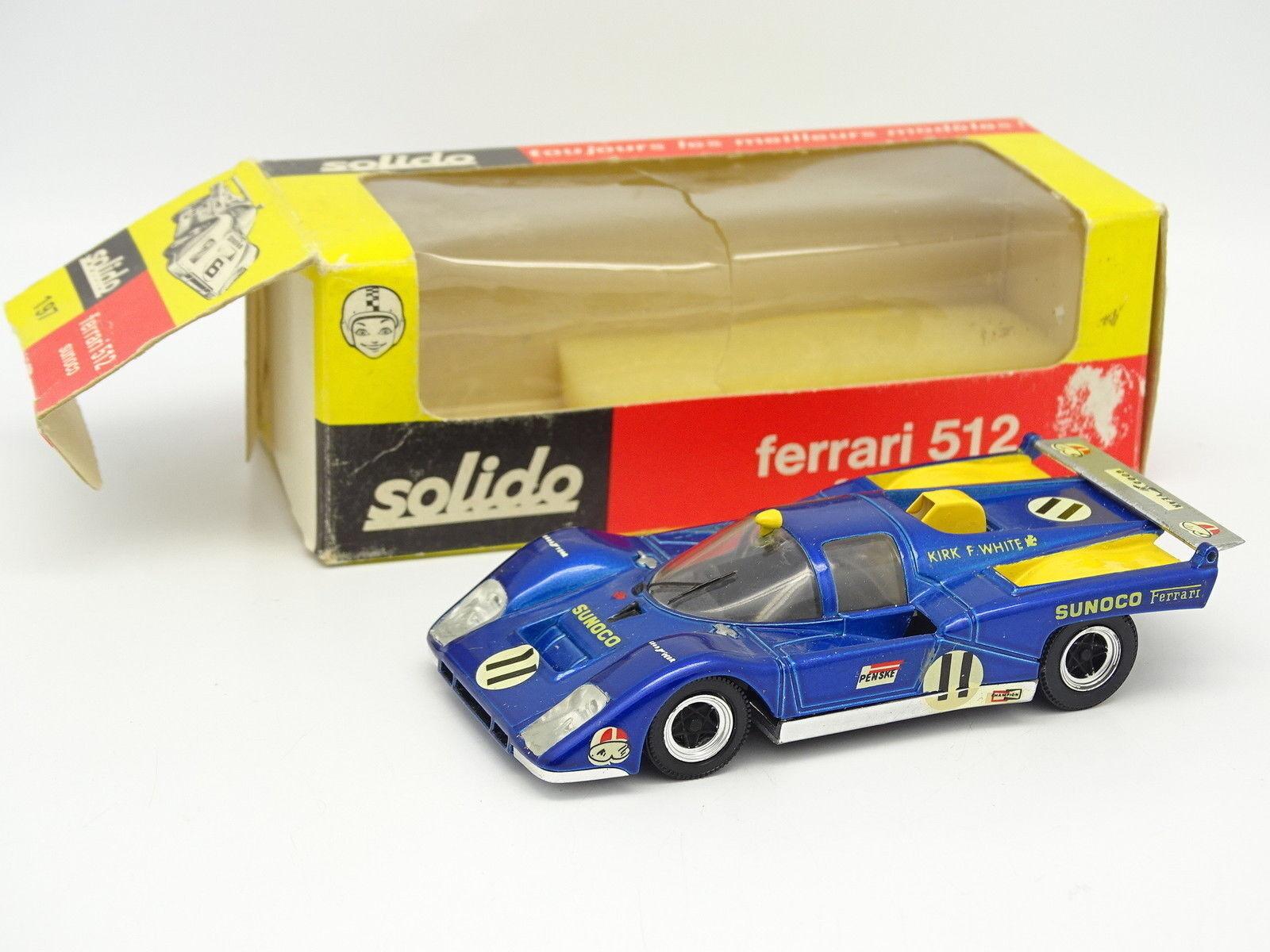 Solido 1 43 Ferrari 512 Sunoco Le Mans 1971 NR ° 11 Ref. 197