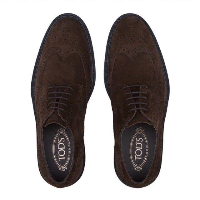 TODS TOD'S DERBY 6,5 41 scarpe uomo Marroneeee Marroneee man scarpe