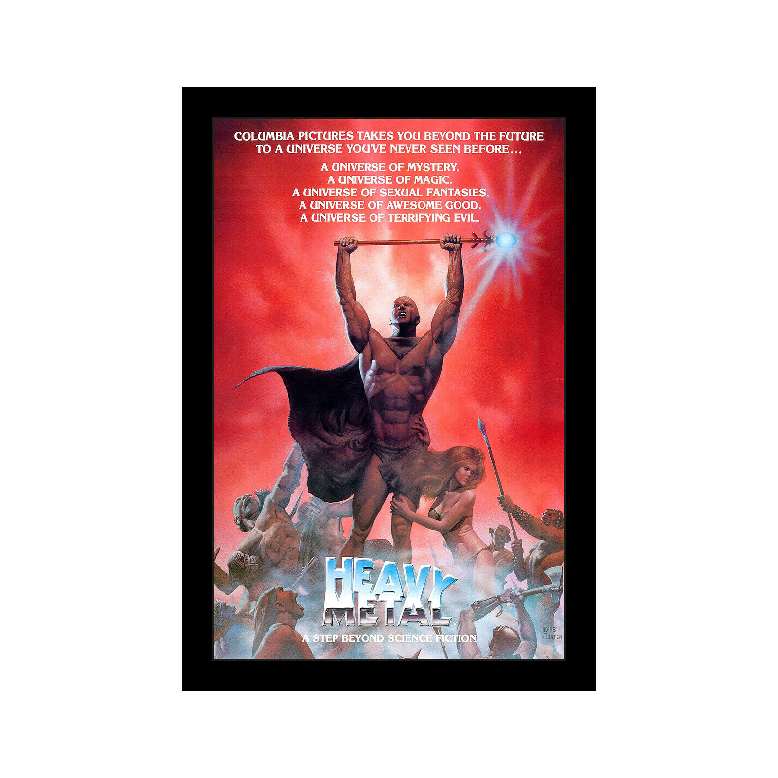 HEAVY METAL - 11x17 Framed Movie Poster by Wallspace