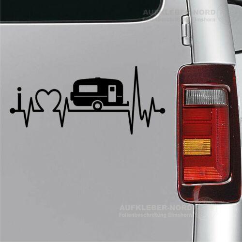 I Love roulotte 30cm battito cardiaco amore POSTERIORE ADESIVO AUTO ADESIVI Dub b13