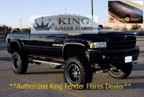 1994-2002 DODGE RAM 2500 3500 POCKET RIVET KING FENDER FLARES TEXTURED