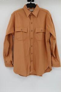 L.L. Bean men's 16 Vintage chamois cloth shirt long sleeve button up cotton