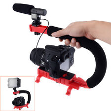 Video Action Stabilizing Handle Bracket for DV Camcorders DSLR Camera Red