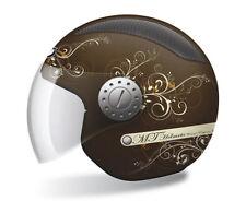 Jethelm casco mt helmets URBAN II Lady, XS, marrón-Matt, rejillas de ventilación