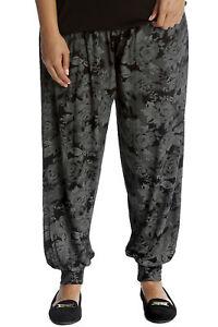 Femme femme nouveau Ali baba sarouel imprimé floral coupe ample pantalon baggy pants