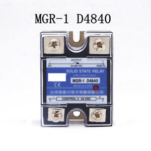 D4840 SSR40DA 40A 332VDC Input to 24480VAC Output Solid State