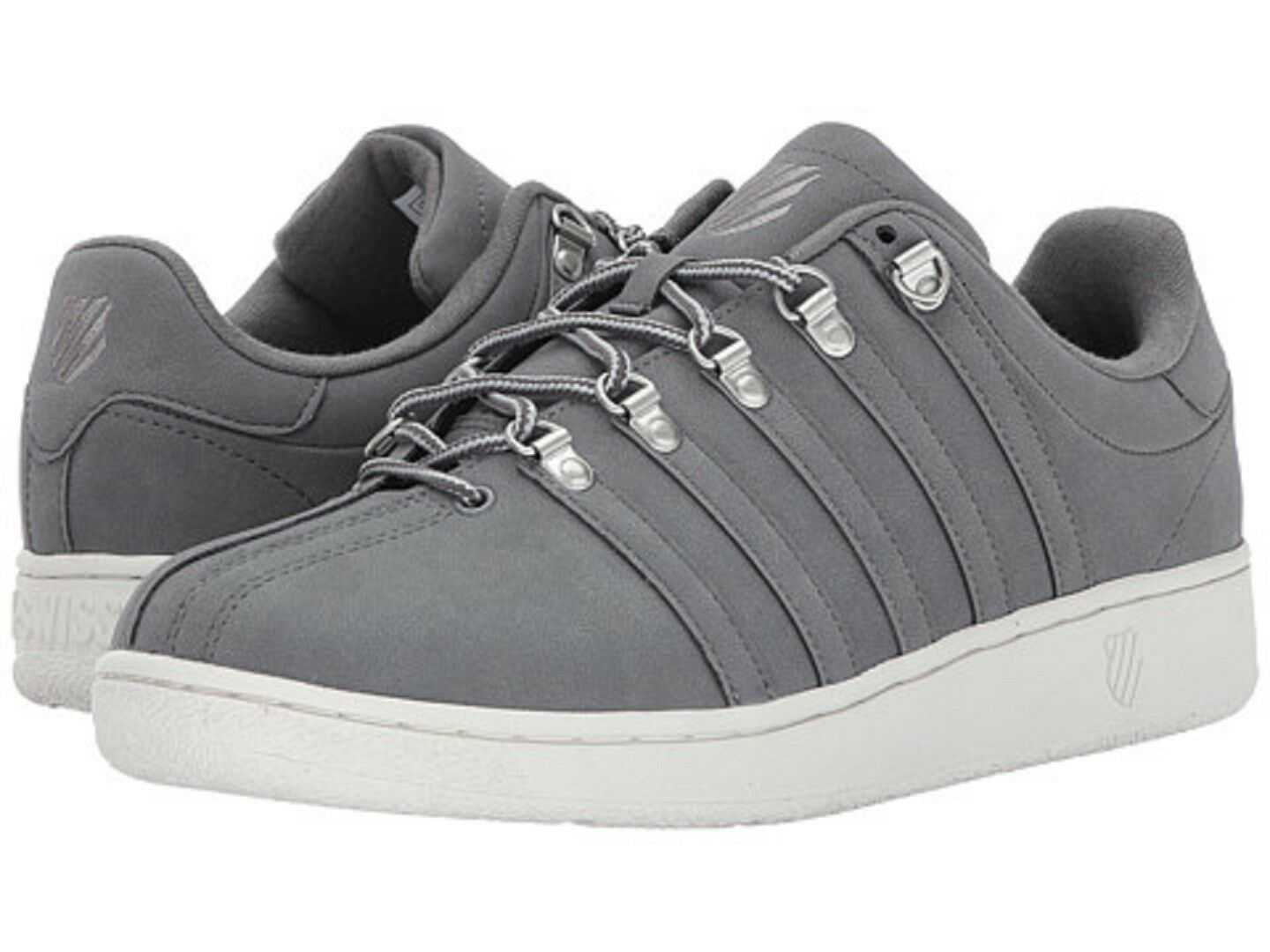 K-SWISS 05588-067 CLASSIC VN SE Mn's (M) Charcoal Leather Lifestyle Shoes