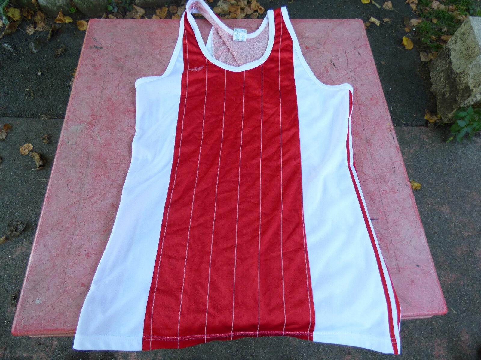 maillot et de basket vintage adidas ventex rouge et maillot blanc 64cm sur 44cm e7f0c9