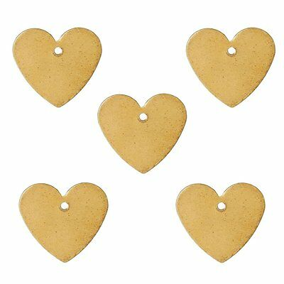 Rockin Beads 95 Brass Plated Alloy Metal Stamping Blanks Heart Drop 15x14mm