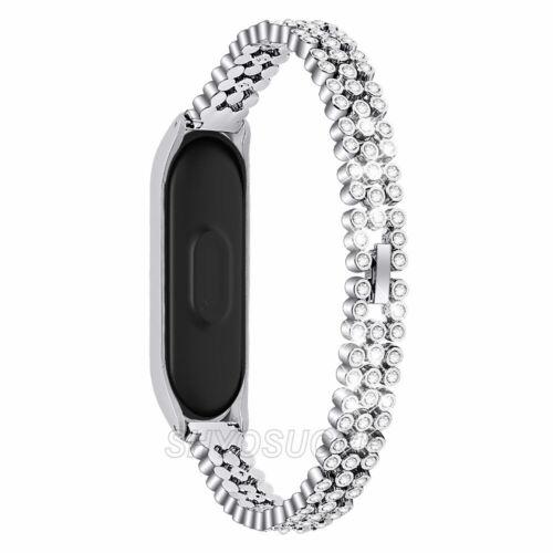 Für Xiaomi Mi Band 5 5 NFC Edelstahl Strass Bohren Ersatz Armband Watchstraps