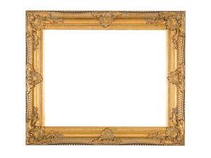 Bilderrahmen-Rahmen-Gemaelde-Olgemaelde-Innenmass-40-x-50cm-Farbe-gold-Antik-Stil