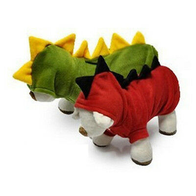 Pet Dogs Puppy Cat Cute Dinosaur Pretty Hoodie Costumes T shirt Clothes Apparel