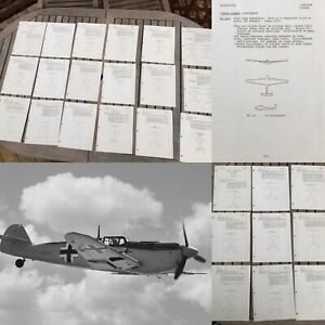WWII RESTRICTED 1943 D-Day Veteran German Plane Recognition Book Air Corp Relic