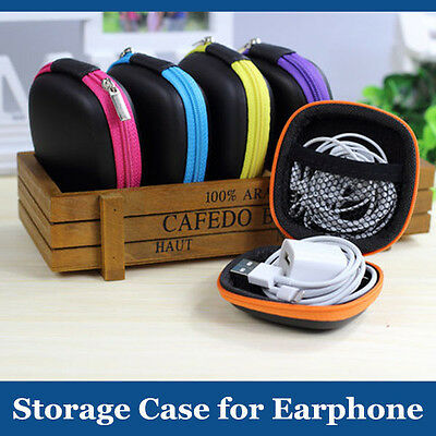 Earphone Holder Case Earbud Pocket Headphone Carry Hard Storage Bag Coin Pouch
